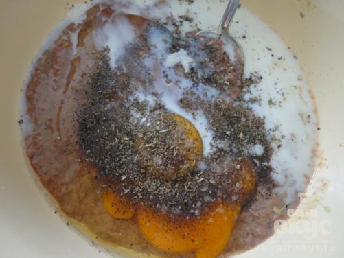 Печеночные блинчики с базиликом