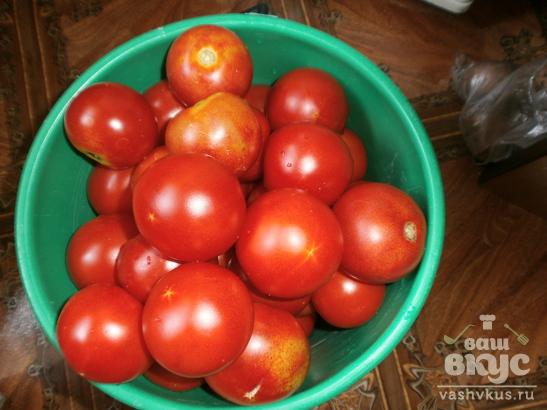 Консервированные помидоры с зелеными яблоками по-немецки