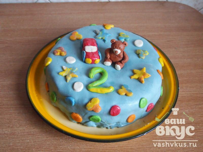 рецепт торта украшенного мастикой
