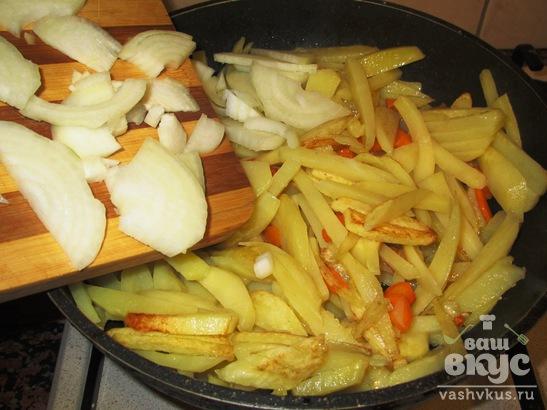 Картофель с яйцом по-деревенски