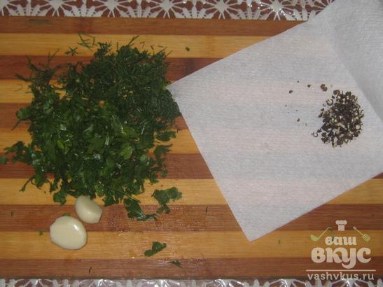 Закуска из маринованных кабачков
