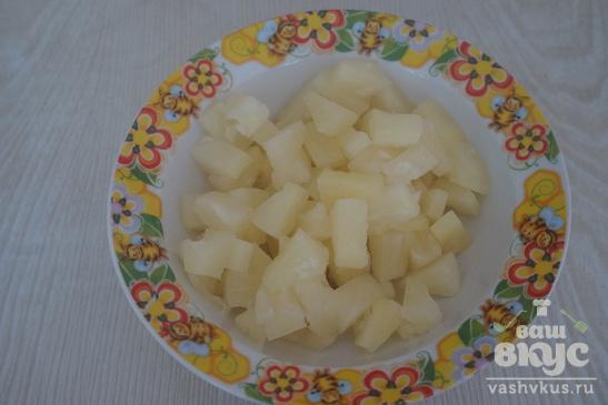 Свиная отбивная с ананасом
