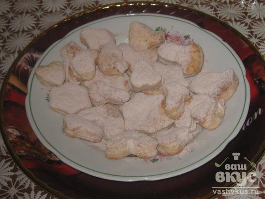 Творожно - банановое печенье для детей