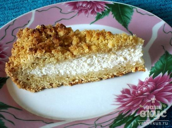 """Песочный пирог с творожной начинкой """"Королевская лепёшка"""""""