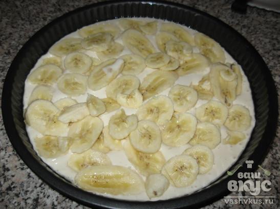 Банановый пирог на кефире