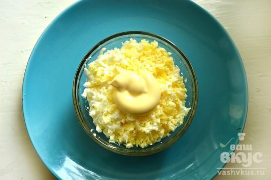 Салат с плавленным сыром и картофелем