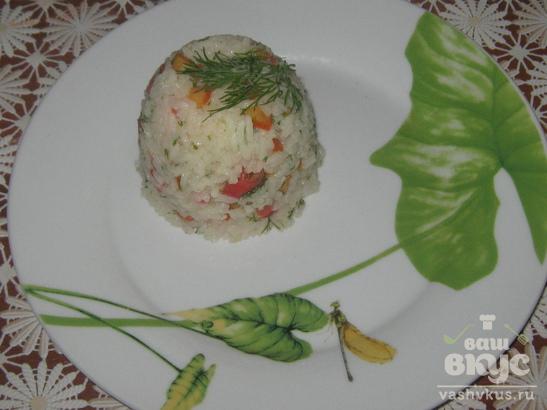 Рис со свежими овощами