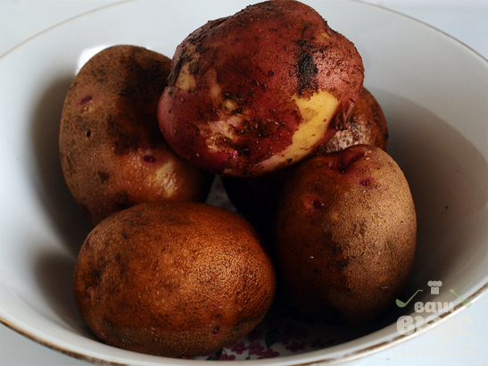 Жареный картофель по-деревенски