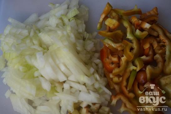 Нут с овощами и уткой
