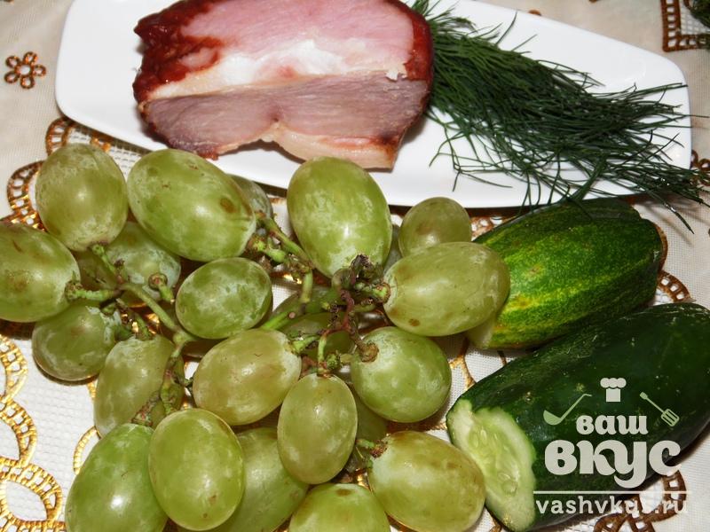рецепты салатов из ветчины и соленых огурцов