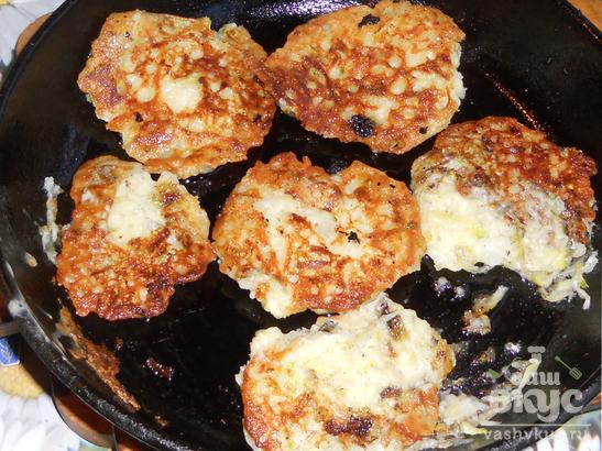 Кабачково-картофельные оладьи «Дачные»