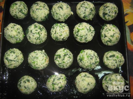 Тефтели вегетарианские с крапивой