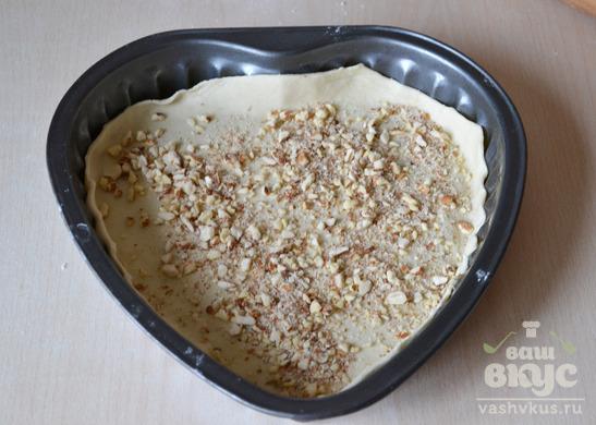 Яблочный пирог из слоеного бездрожжевого теста
