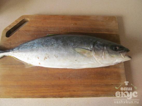 Запеченный фаршированный тунец