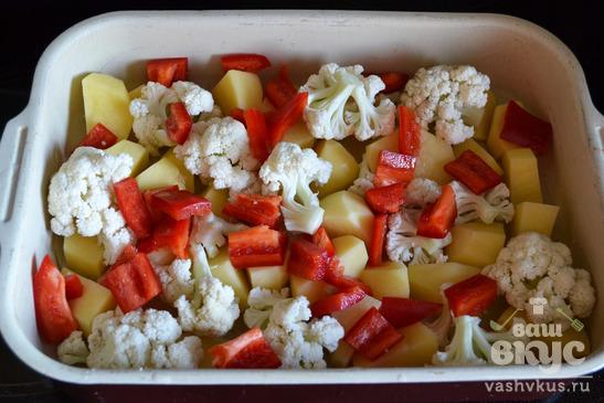 Овощное рагу запеченное в духовке