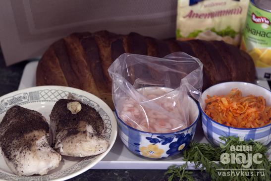 Сэндвич гавайский с куриной грудкой