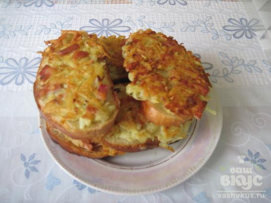 Бутерброды студенческие из батона и картофеля