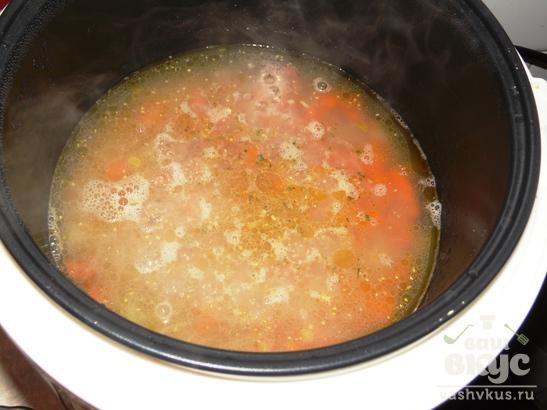 Ячневая каша с морковью и луком в мультиварке