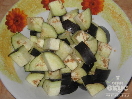 Овощное рагу с баклажаном и цветной капустой