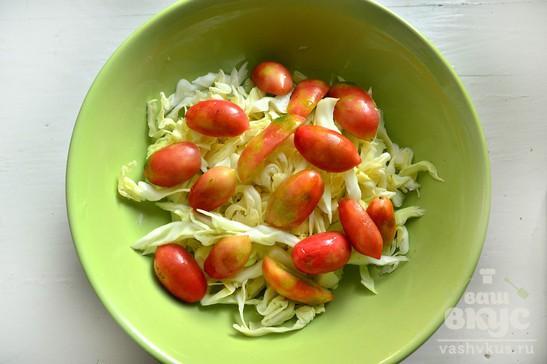 Капустный салат с оливковым маслом