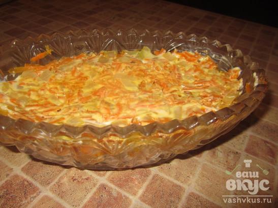 """Салат с крабовыми палочками и картофелем """"Экономный"""""""