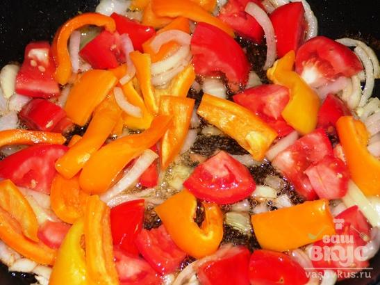 Вареники тушеные с овощами