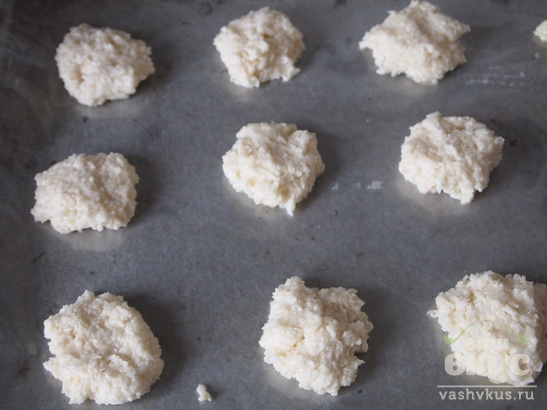 Кокосовое печенье без масла за полчаса