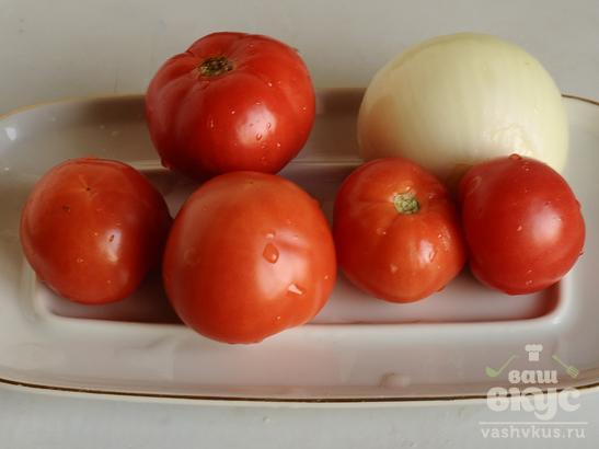Овощное рагу в омлете
