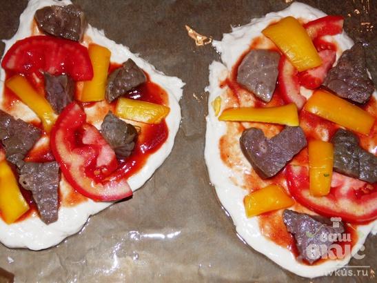 Мини-пицца с субпродуктами