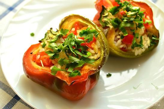 Фаршированный перец по-вегетариански