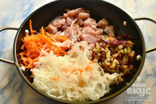 Мини-галеты с курино-овощной начинкой