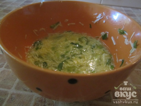 Открытые зразы с сыром и яйцом