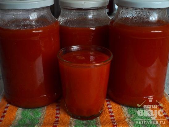 Томатный сок без косточек на зиму