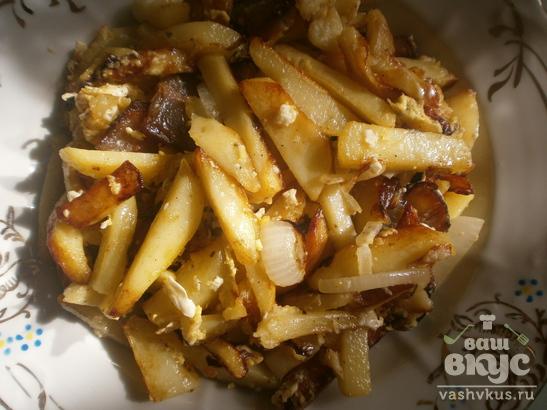 Жареная картошка с салом по-домашнему