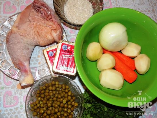 Куриный суп с плавленными сырками