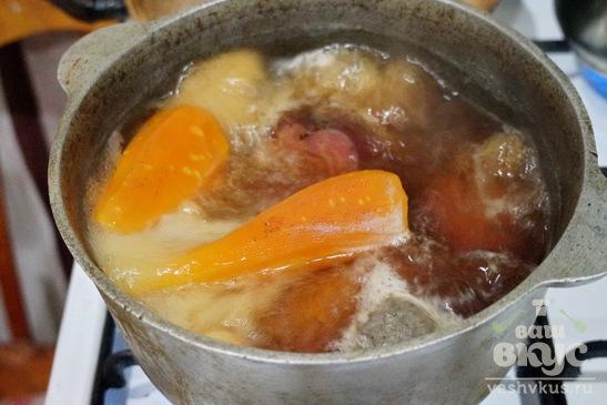 Винегрет с консервированной фасолью