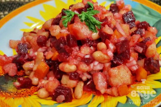 Фасоль белая консервированная салаты рецепты с простые и вкусные