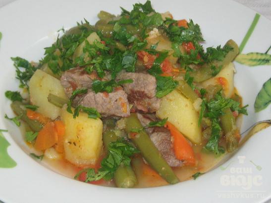 Рагу с овощами и говядиной