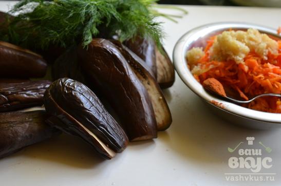 Баклажаны квашеные фаршированные морковью