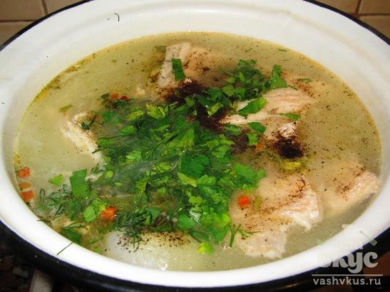 Суп из хребта лосося