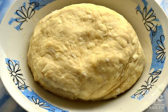 Хлеб домашний с плавленным сыром