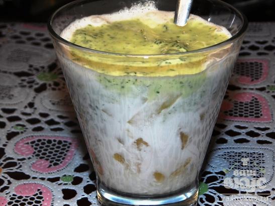 Десерт с анасом и мятой