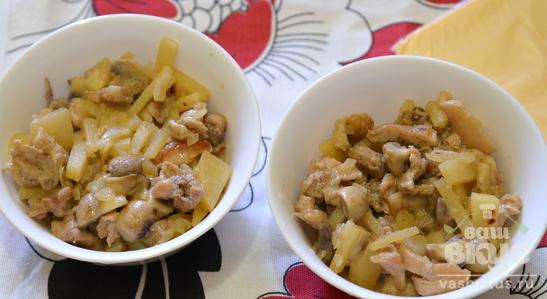 """Картошка с грибами под """"крышкой"""""""