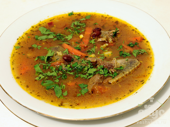Суп-лобио из дичи по-грузински