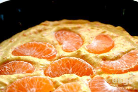 Кекс с мандарином и морковью