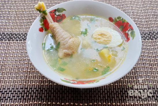 Суп на домашней курочке