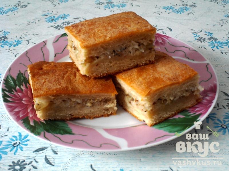 Заливной пирог с консервой рыбной пошаговый рецепт