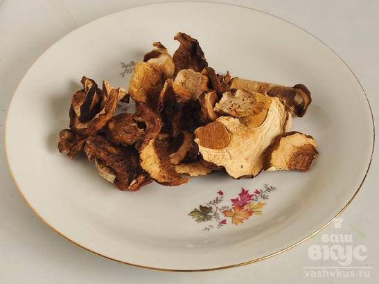 Вегетарианские двойные щи с грибами