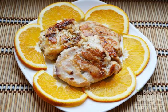 Куриные отбивные с апельсинами