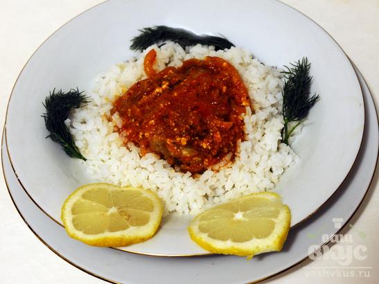 Минтай в томатно - молочном соусе